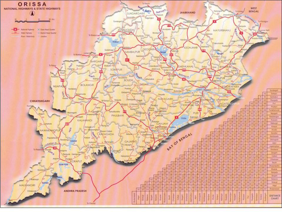 Orissa Road Connectivity - Orissa Higher Education Vision