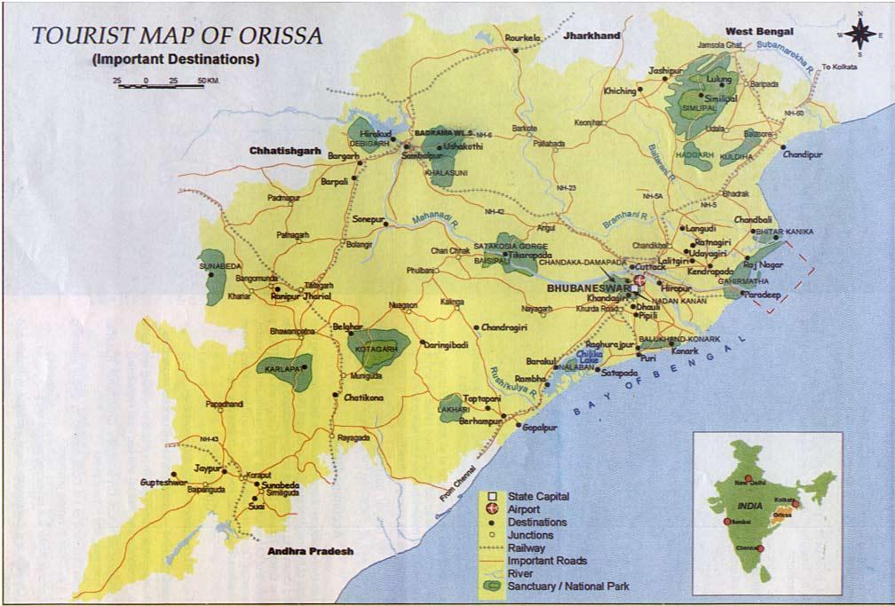 Orissa tourist destinations  Orissa Higher Education Vision 2020